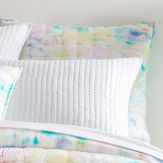 Watercolor Burst Quilted Sham