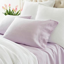 Lush Linen Pale Lilac Sheet Set