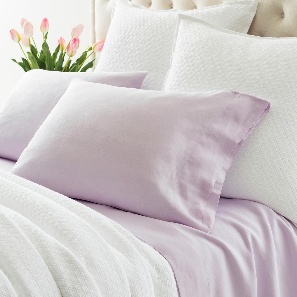 Lush Linen Pale Lilac Sheet Set
