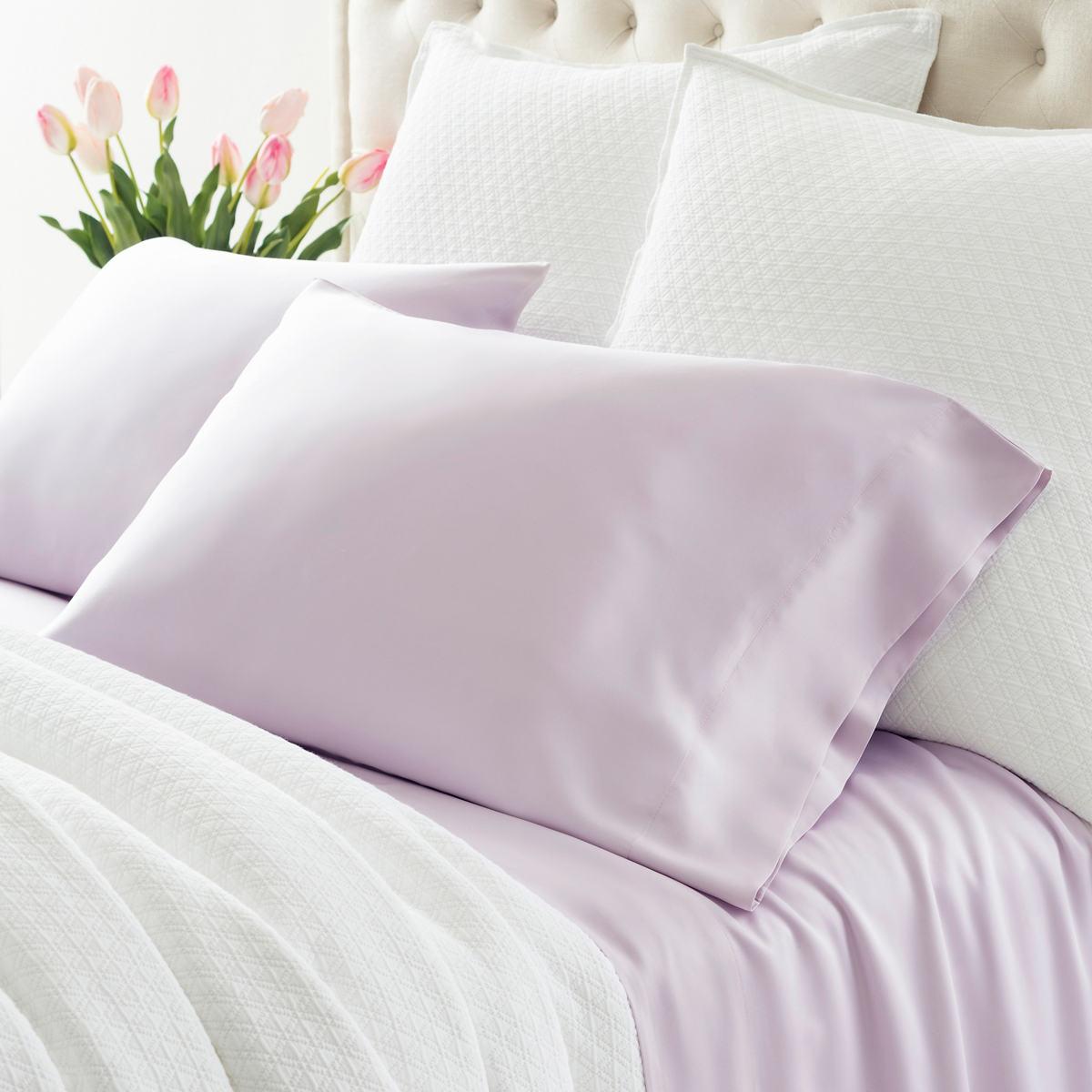 Silken Solid Pale Lilac Sheet Set