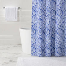 Flora Blue Shower Curtain