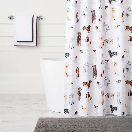 Woof Shower Curtain