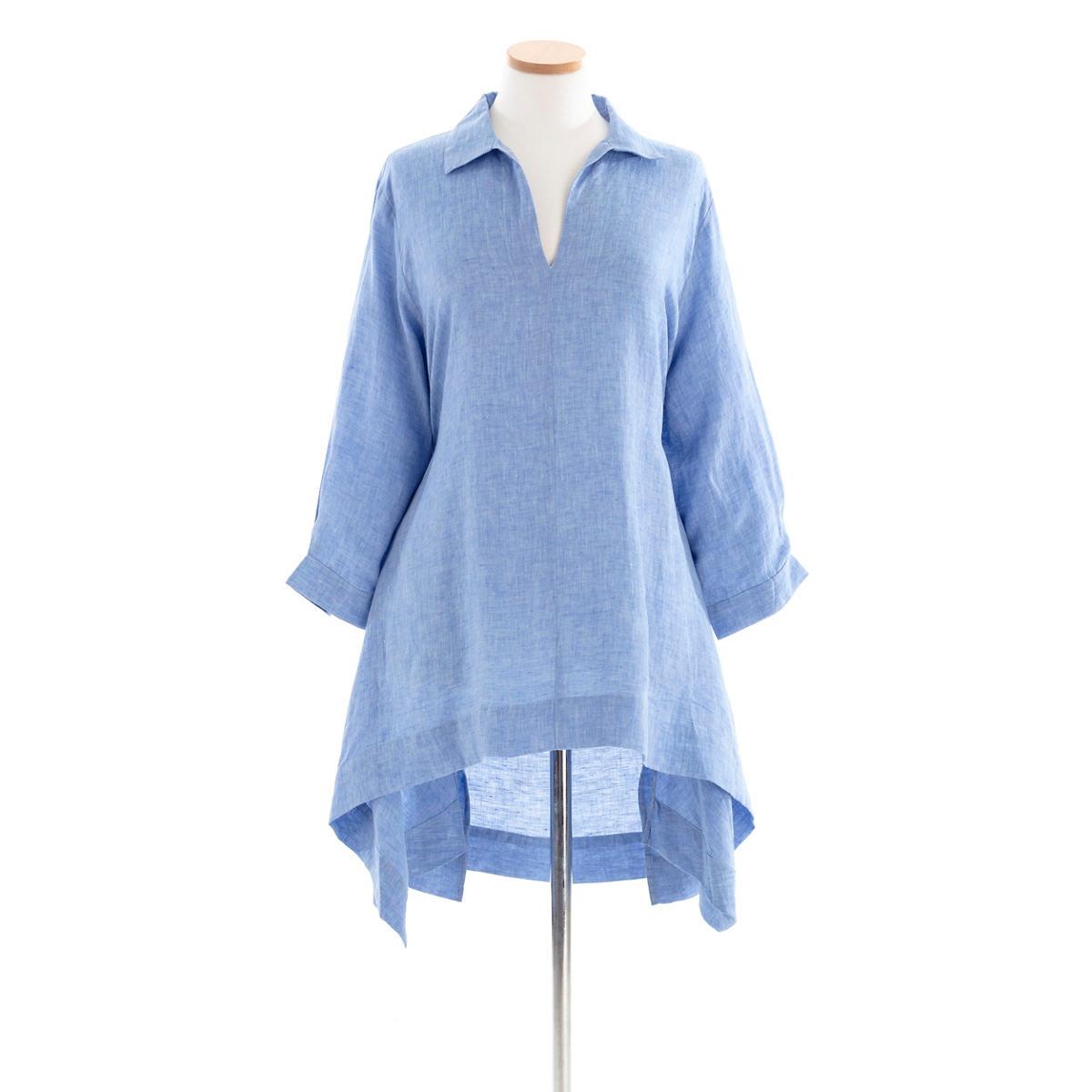 Annie Linen Blue Tunic