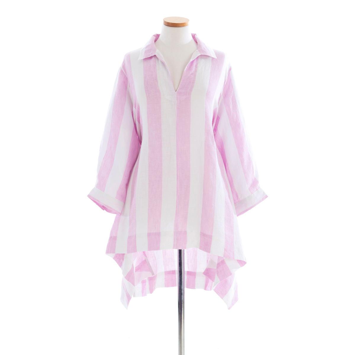 Annie Linen Lilac Stripe Tunic
