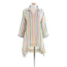 Annie Linen Multi Stripe Tunic