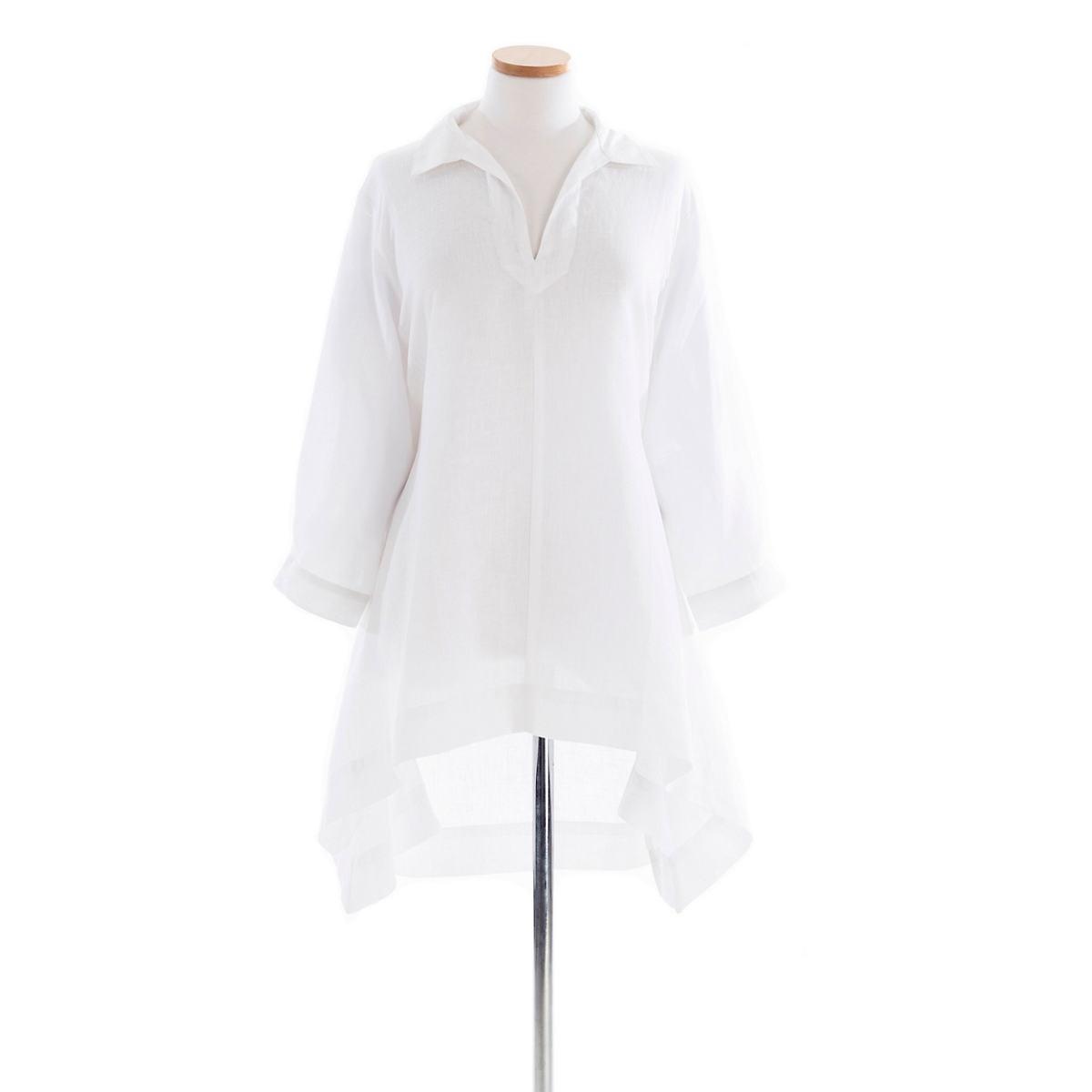 Annie Linen White Tunic