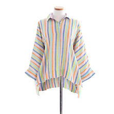 Ellie Linen Multi Stripe Smock