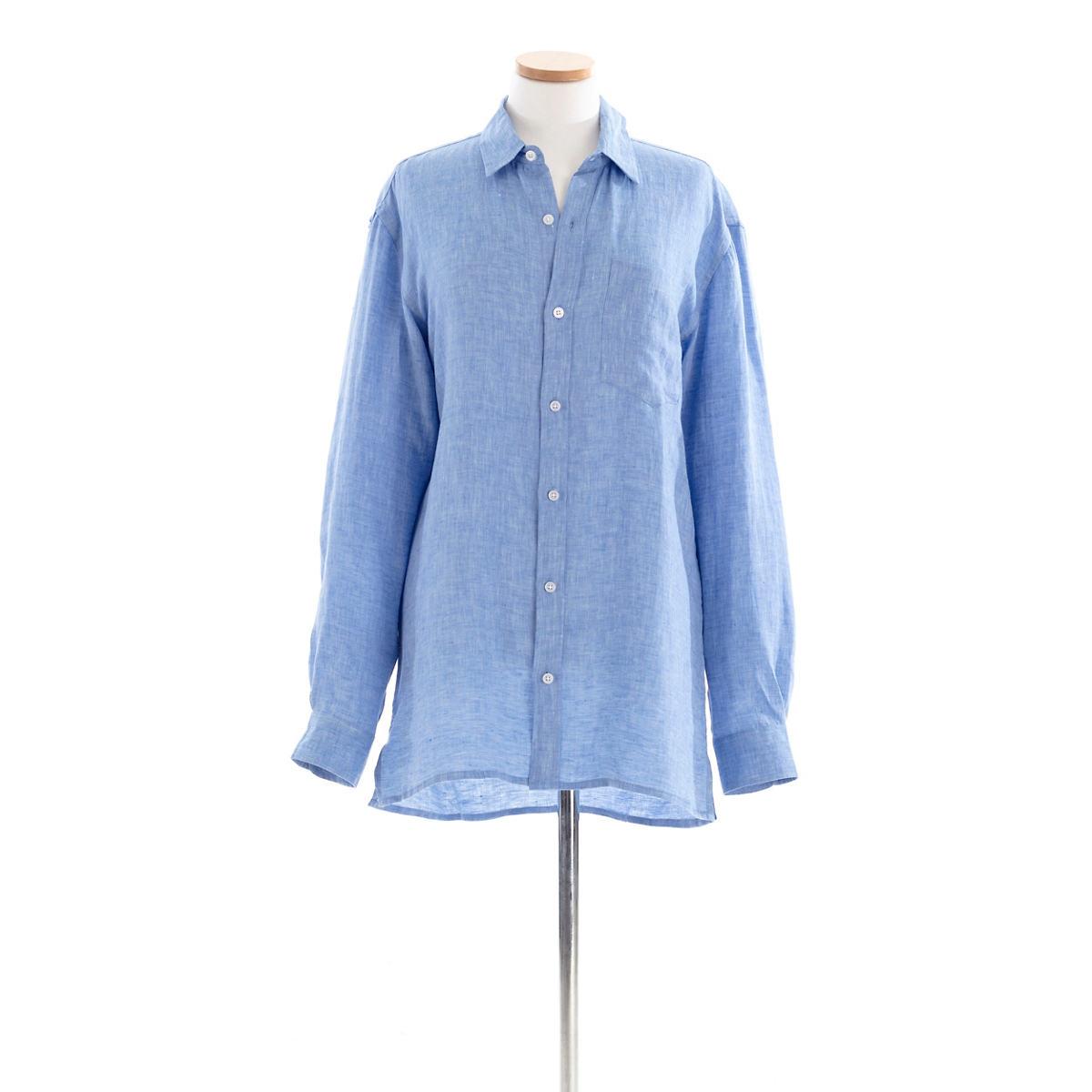 Reese Linen Blue Shirt