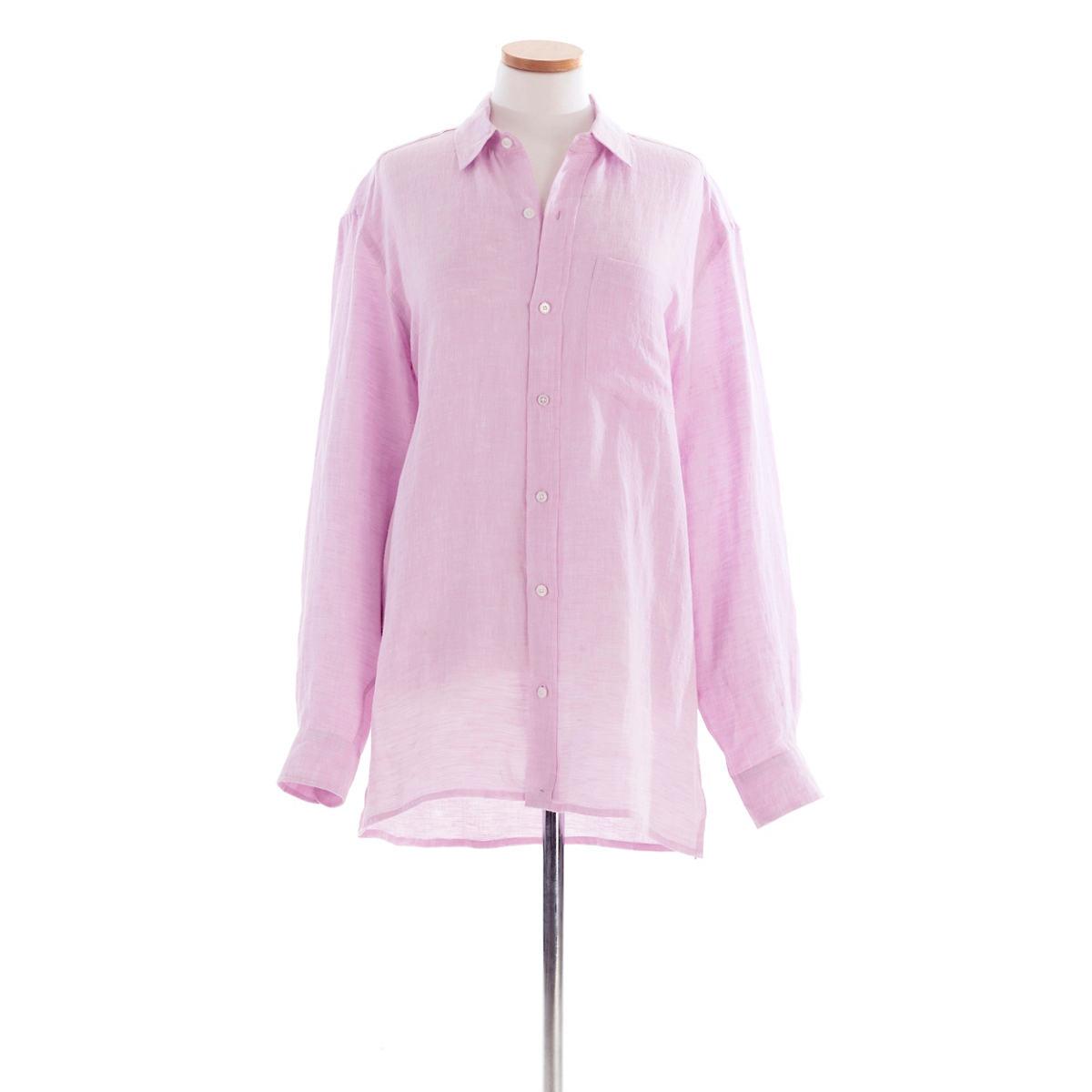 Reese Linen Lilac Shirt