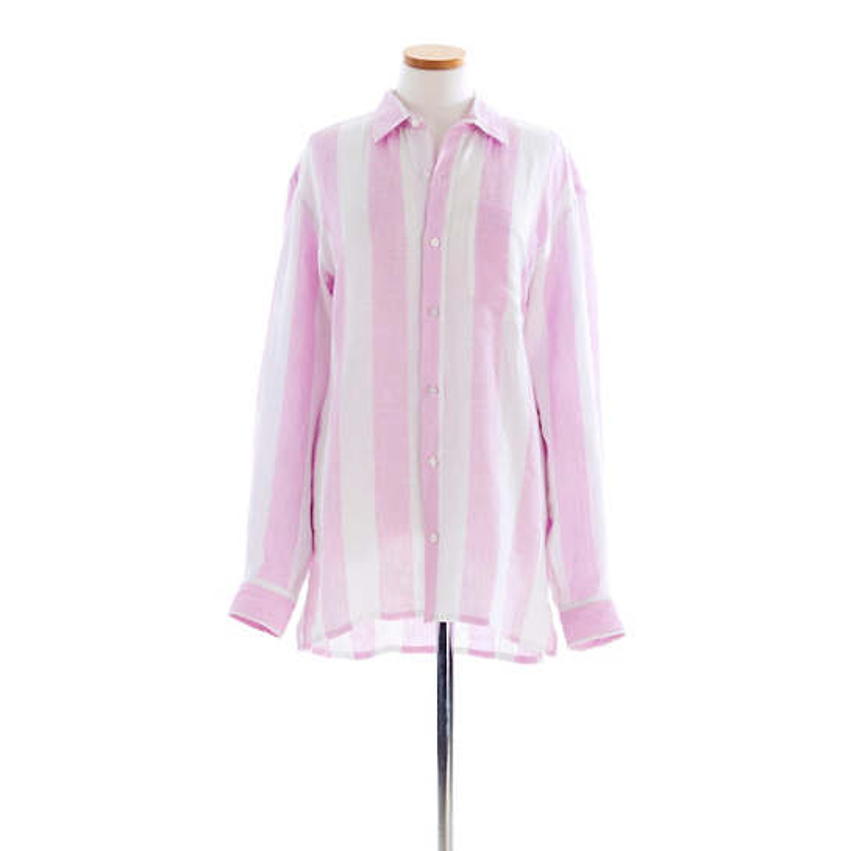 Reese Linen Lilac Stripe Shirt