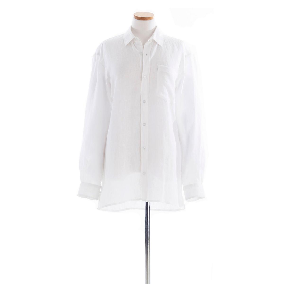 Reese Linen White Shirt