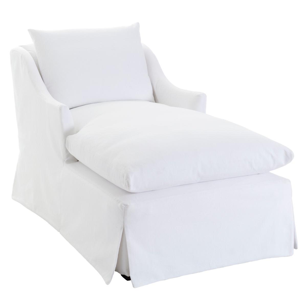 Namaste White Slipcovered Chaise