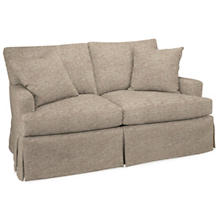 Bark Velvet Stone Saybrook 2 Seater Slipcovered Sofa