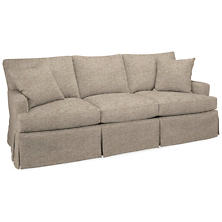 Bark Velvet Stone Saybrook 3 Seater Slipcovered Sofa