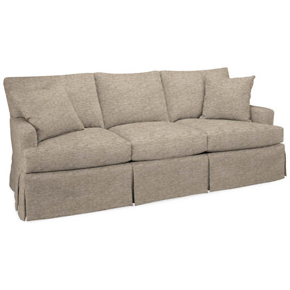 Bark Velvet Stone Saybrook 3 Seater Slipcovered Sofa