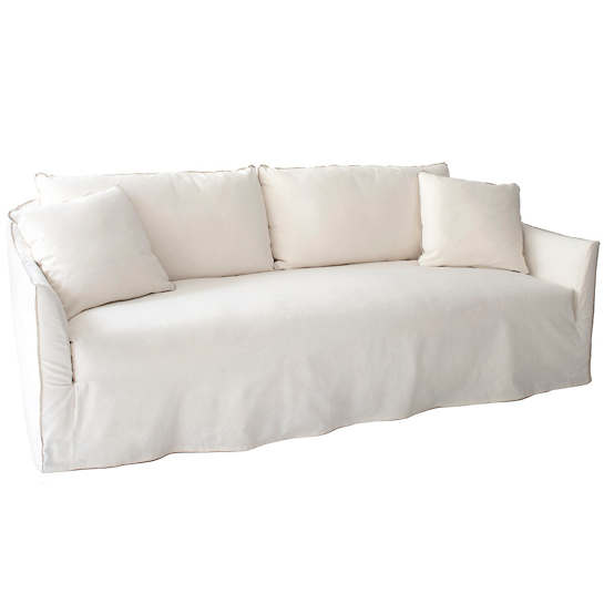 Bruna White Slipcovered Sofa