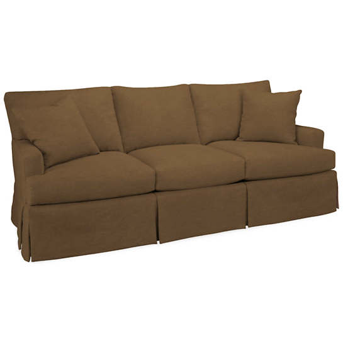 Velvesuede Camel Saybrook 3 Seater Slipcovered Sofa
