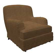 Velvesuede Camel Ellis Chair Slipcover