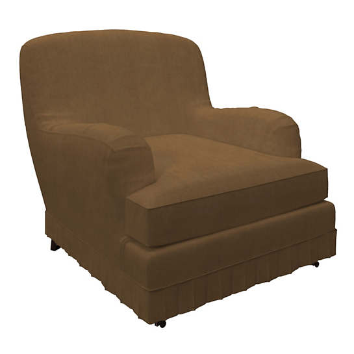 Velvesuede Camel Ellis Chair Slipcover