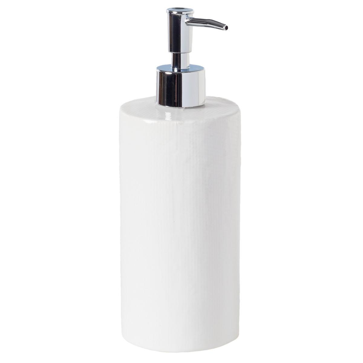 Cordoba White Burlap Soap Pump