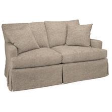 Bark Velvet Stone Saybrook 2 Seater Upholstered Sofa