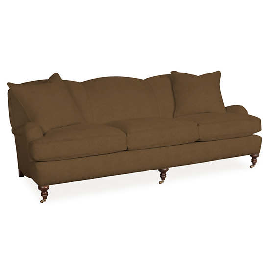Velvesuede Camel Litchfield 3 Seater Sofa