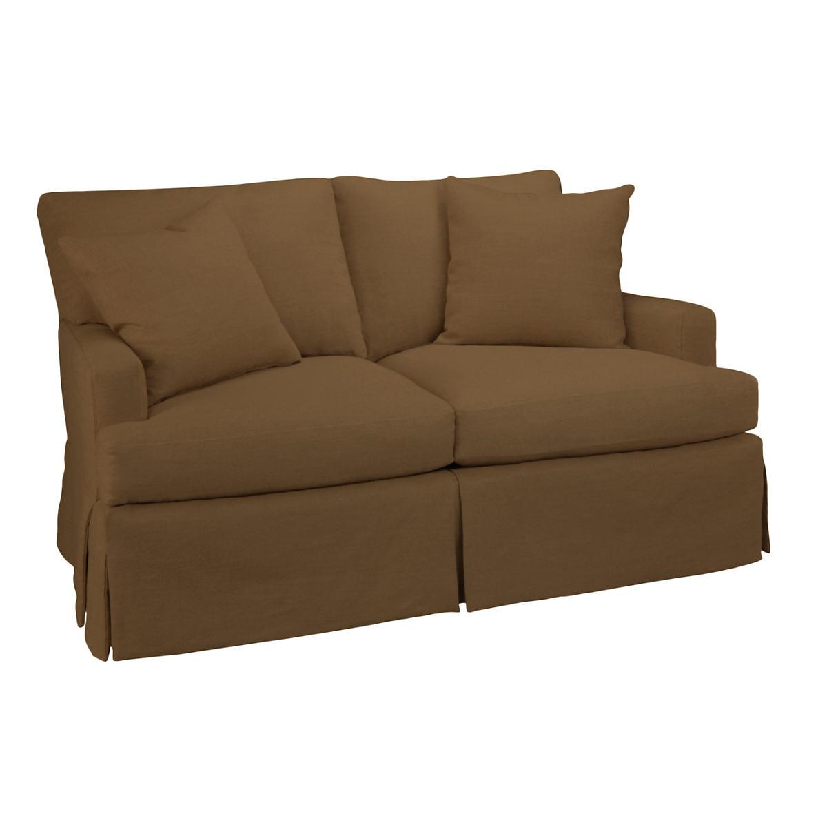 Velvesuede Camel Saybrook 2 Seater Upholstered Sofa