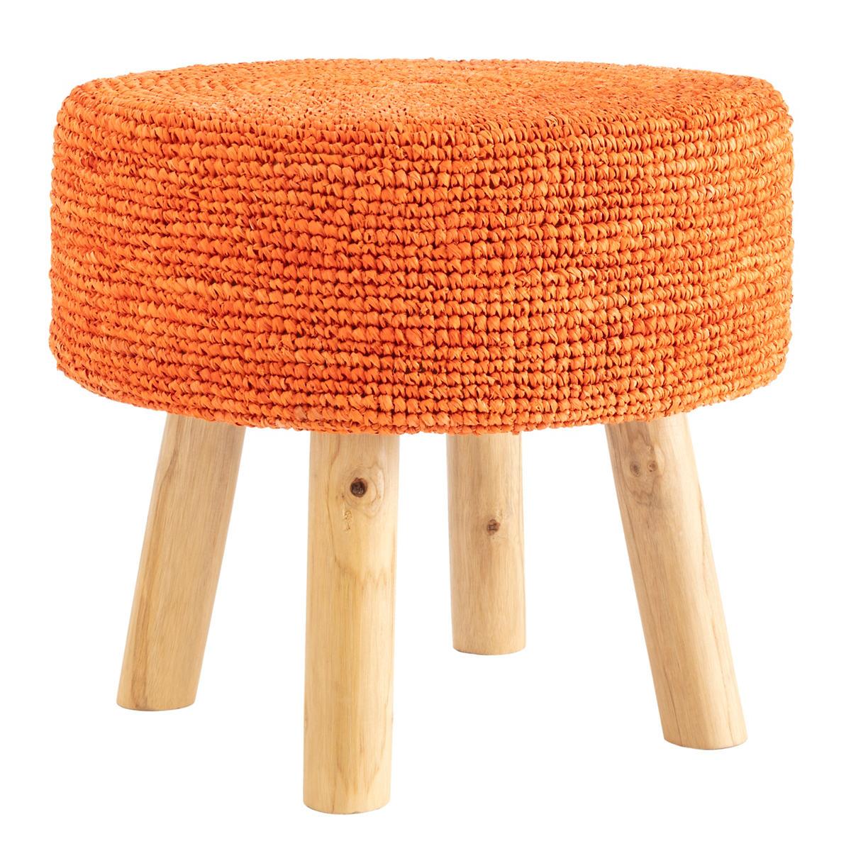 Fiesta Tangerine Stool