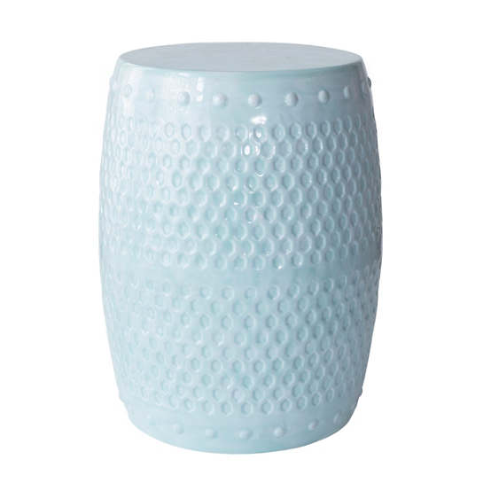 Robin's Egg Blue Glaze Stool