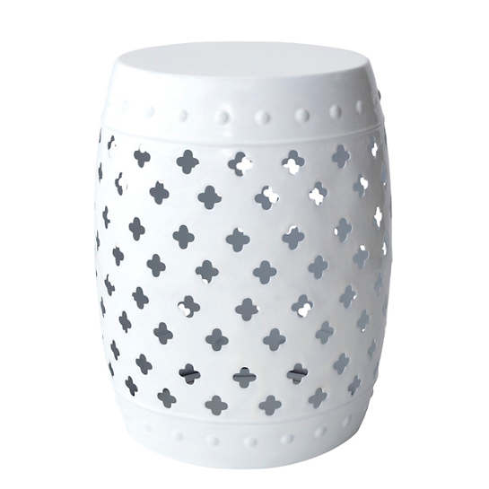 White Glaze Stool