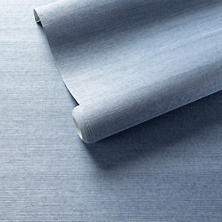 Samoa Periwinkle Grasscloth Wallpaper