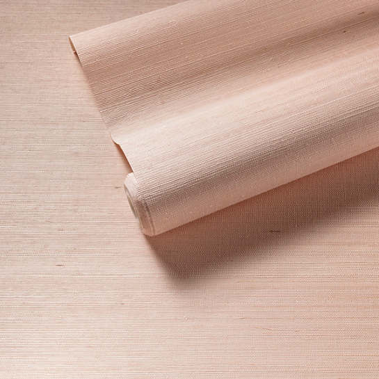 Samoa Shell Pink Grasscloth Wallpaper