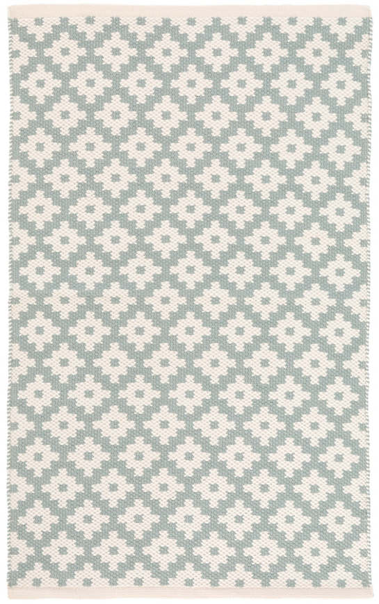 Samode Light Blue/Ivory Indoor/Outdoor Rug | Dash & Albert