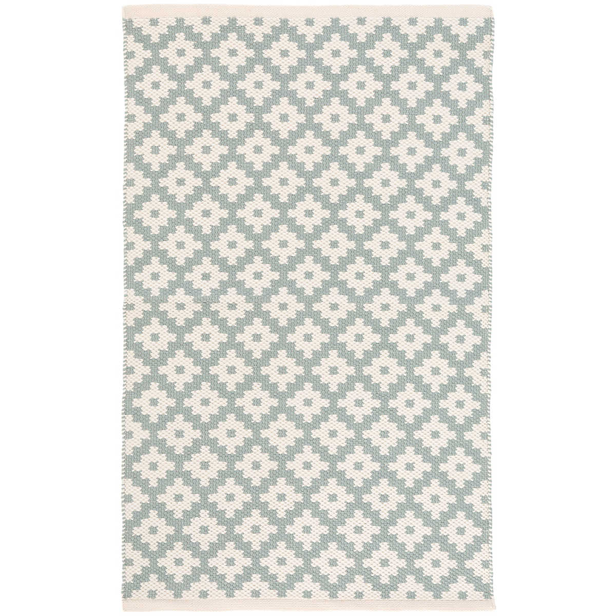 Samode light blue ivory indoor outdoor rug dash albert for Blue indoor outdoor rug