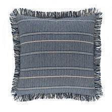 Samson Navy Woven Cotton Decorative Pillow