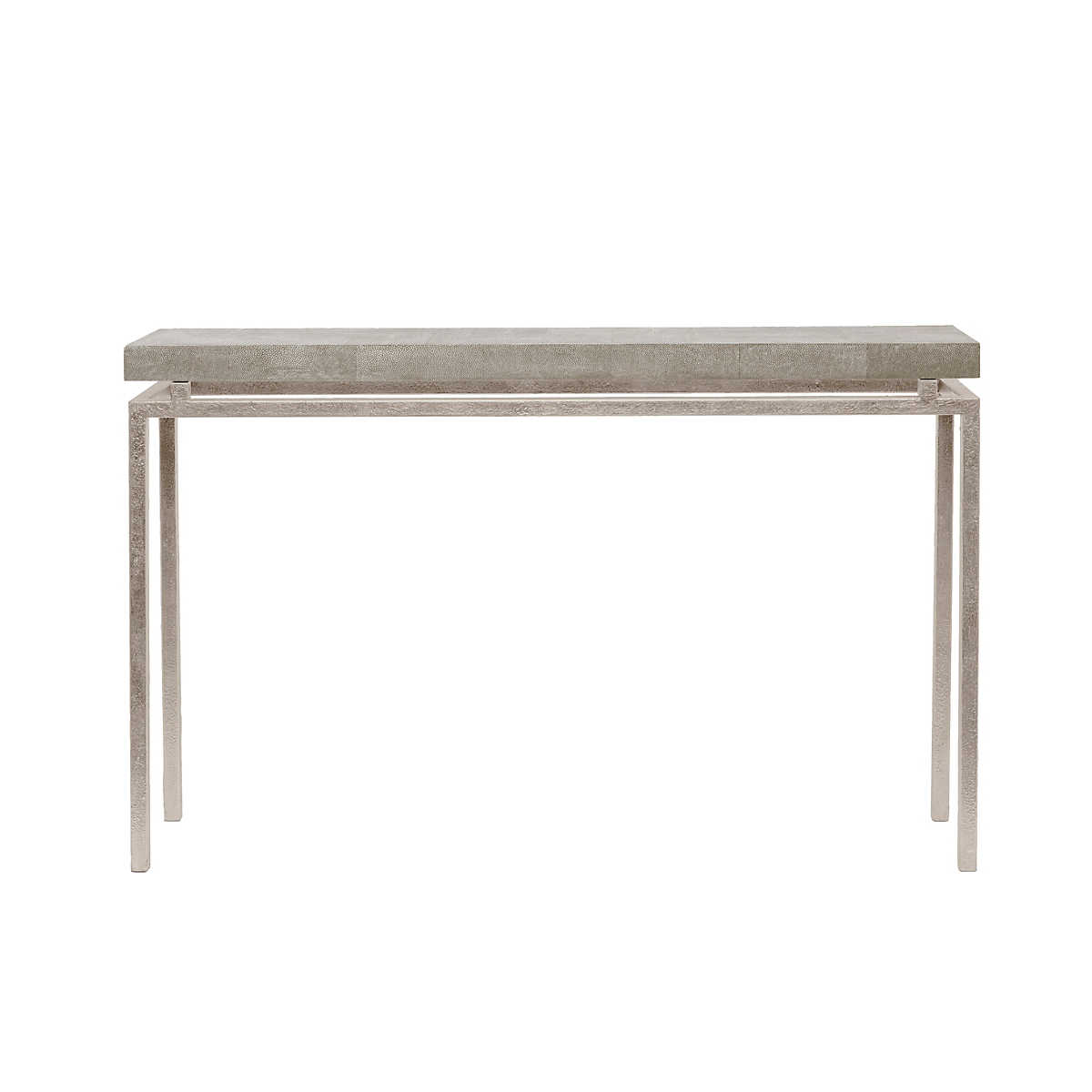 Sand Faux Shagreen Benjamin Narrow Console Furniture