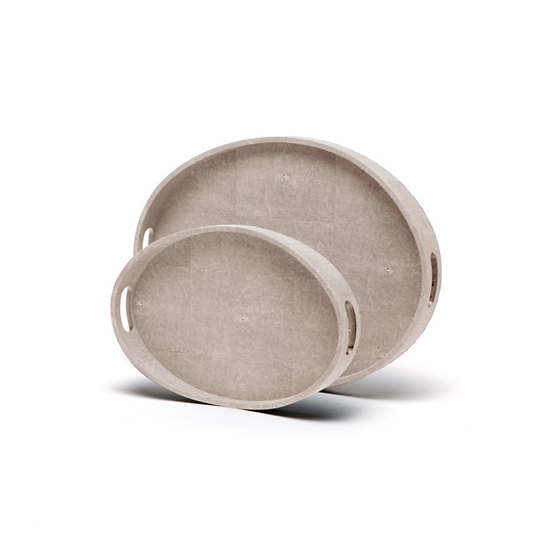 Sand Logan Tray/Set Of 2