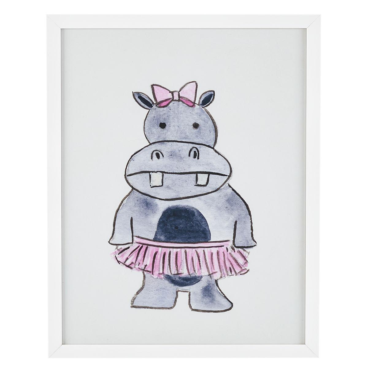 Sassy Hippo  Wall Art