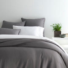 Essential Sateen Grey Duvet Cover