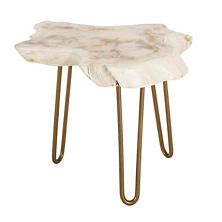 Satellite Whitewash Side Table