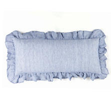 Savannah Linen Chambray French Blue Decorative Pillow
