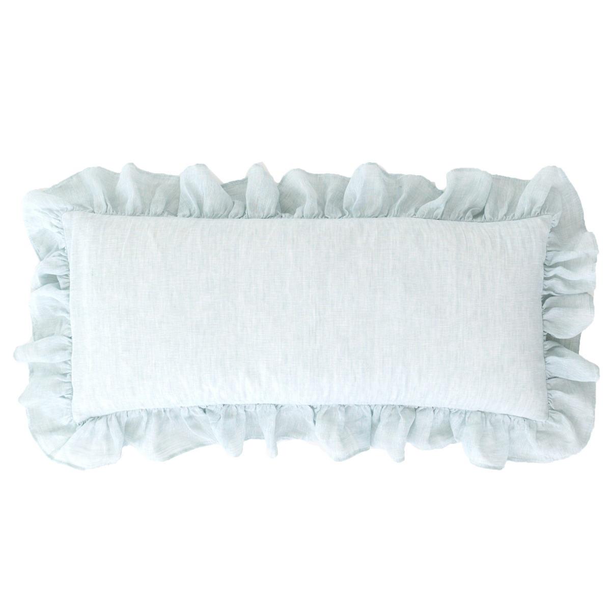 Savannah Linen Chambray Sky Decorative Pillow