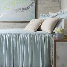 Savannah Linen Chambray Sky Sham