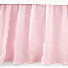 Savannah Linen Gauze Blush Bed Skirt