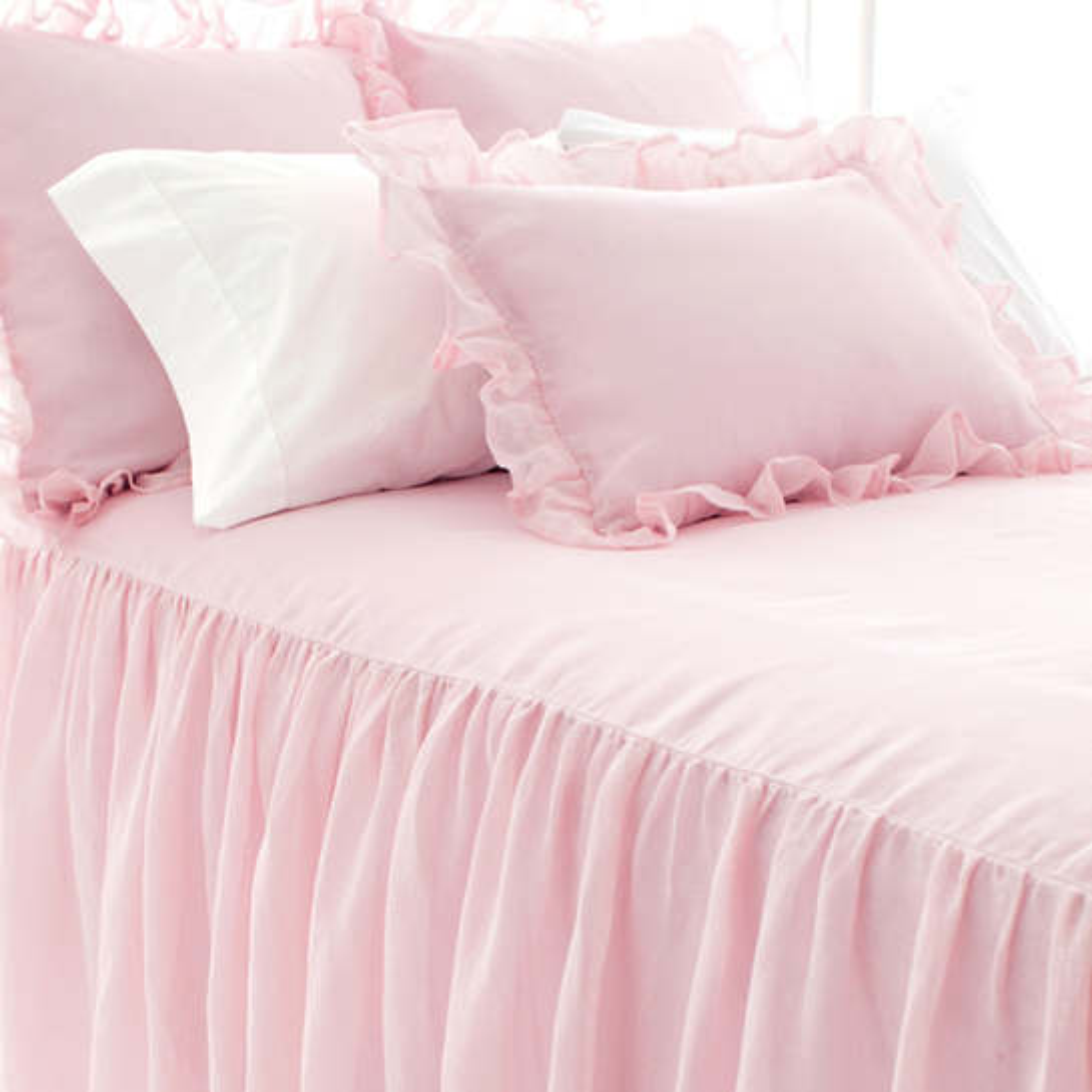 Savannah Linen Gauze Blush Bedspread