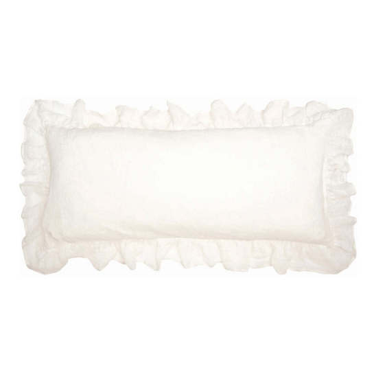 Savannah Linen Gauze Ivory Decorative Pillow