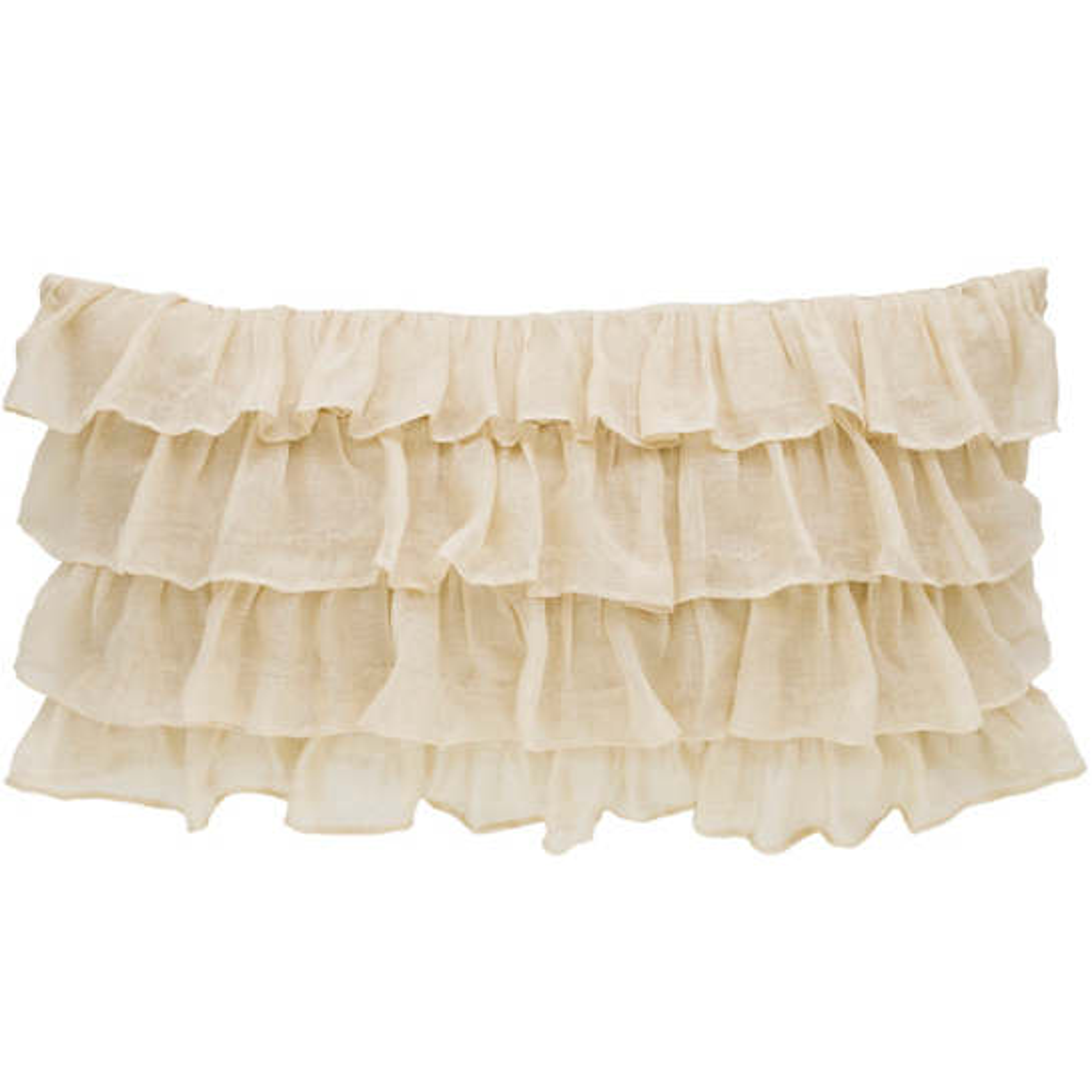 Savannah Linen Gauze Tea Stain Tier Ruffle Decorative Pillow