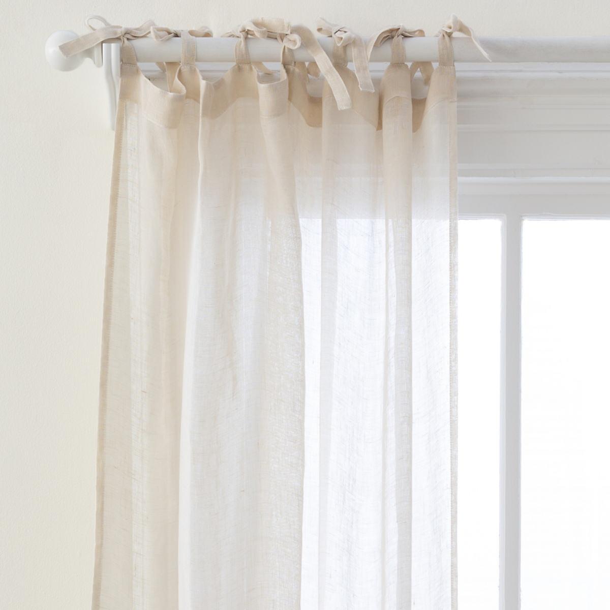 Savannah Linen Gauze Tea Stain Window Panel