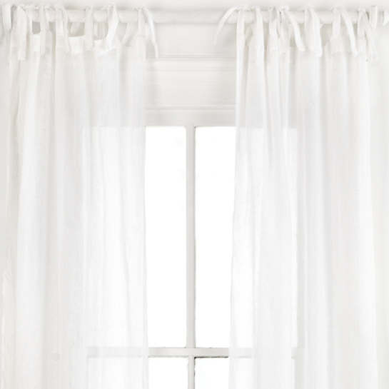 Savannah Linen Gauze White Window Panel