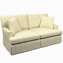 Adams Ticking Grey Saybrook 2 Seater Slipcovered Sofa